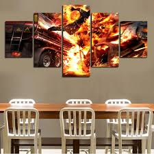 flyers numbers painting by numbers 2017 5 pcs wall art abstract explosion flyers hd