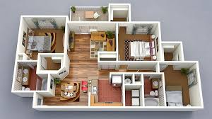 20 designs ideas for 3d apartment or one y three economical three bedroom house plan 21212dr