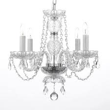 royal 4 light crystal chandelier feature plug in kit included
