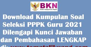 We did not find results for contoh soal. Download Gratis Kumpulan Soal Seleksi Pppk Guru 2021 Pdf Jawaban Lengkap
