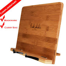 bookaholic bamboo book stand