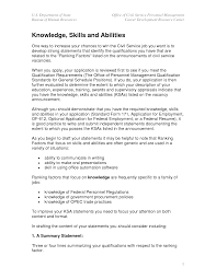skills and abilities on a resume knowledge skills and abilities skills and ability statements ksa examples skills and abilities