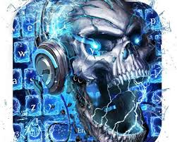 skull wallpaper keyboard apk free