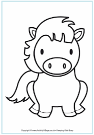 Small Picture Horse Colouring Pages