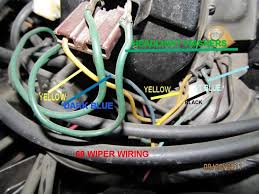 windshield wiper motor wiring chevelle tech ignore the green headlight washer wires that are piggy backed
