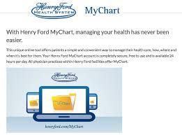 Henry Ford My Chart Www Henryford Com Mychart Henry Ford Mychart