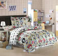fairy tail bed set anime comforter sets one piece character anime bedding set for twin comforter