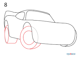 how to draw lightning mcqueen step by