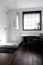 dark wood tile flooring. Wonderful Dark Wednesday I Shared This Bathroom That Had A Beautiful Herringbone Wood Floor  Although Love The Look Of Floors In Bathroom They Arenu0027t Most  With Dark Wood Tile Flooring 2