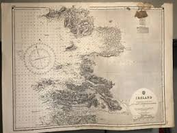 Details About Ireland East Coast Navigational Chart Hydrographic Map 2420 Achill Slyne 1955