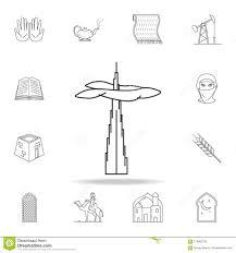 Design One Dubai High Rise Building Dubai Icon Detailed Set Of Arab Culture
