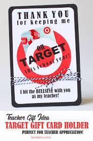Teacher Appreciation Gift Idea Target Gift Card Holder Landeelucom