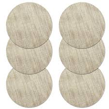 borlan vinyl grey placemats heat resistant dining table mats non slip washable place mats set of 6 grey kitchen dining 5dc4tax5y