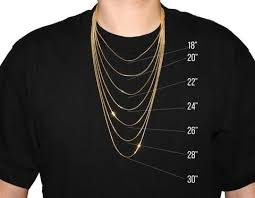 Mens Necklace Size Chart Necklace Size Chart In 2019 Necklace Size Charts Gold
