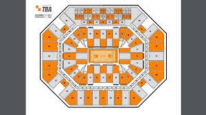 Checker Thompson Boling Arena For The Ut Unc Basketball Game