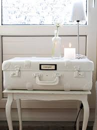 Suitcase Nightstand creative diy suitcase nightstand with wooden base table painted 2026 by guidejewelry.us