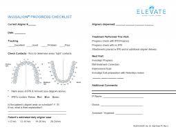 Invisalign Progress Checklist Form Download Dr Payam Ataii