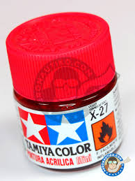 tamiya acrylic paint clear red x 27