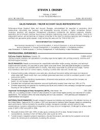 Cover Letter Good Resume Objective Statement For Major Account