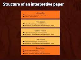 writing an interpretive essay  writing an interpretive essay