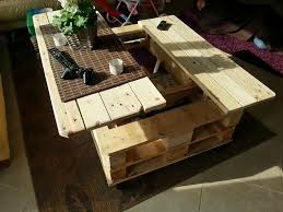 5 multifunction pallet coffee table with storage slide out and lift top