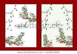 Happy Holiday Card Templates Holiday Art Greeting Card Template Holiday Seasonal Greeting