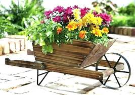 garden dump cart way the original in this make a beautiful and pot with flowers