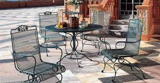 Interesting Modern Iron Patio Furniture O Intended Decorating