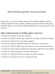Top 8 drilling engineer resume samples In this file, you can ref resume  materials for ...