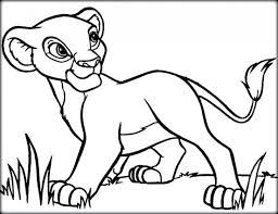 Pride Coloring Pages Young Simba Coloring Pages Lion King And Nala Free Printable To