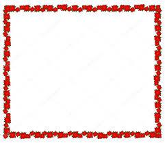 Weihnachtsstern Blüten Bilden Einen Schönen Rahmen Für