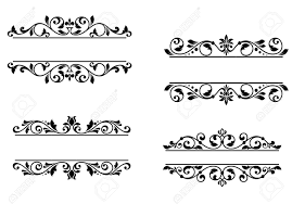 Vignette Design Header Frame With Retro Floral Elements For Monogram Or Vignette