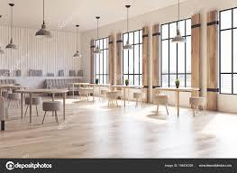 Fensterläden Café Innen Seitenansicht Stockfoto Denisismagilov