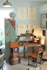 vintage office ideas. vintage globe radio wall art antique cameras mom check out office ideas