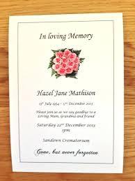 Memorial Announcement Cards Funeral Announcement Cards Memorial Wording For Artwrk Pro