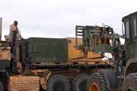 u s department of defense photo essay u s marines observe the loading of generators onto trucks on forward operating base delaram