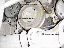 how to replace a serpentine belt on a gm series ii engine  remove the old belt install the new one reference the pics below for proper routing when you have the belt routed around the a c and crank pulleys