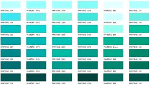 Teal Color Chart Blue Matching System Executive Apparel