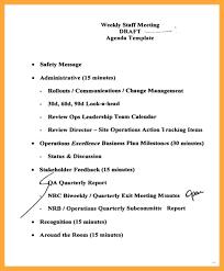 Staff Meeting Agenda New Staff Meeting Agenda Template Sample Pdf Deepwaters