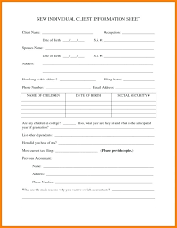 Employment Information Form Template Better Printable
