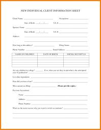 Printable Customer Information Form Employment Information Form Template Better Printable