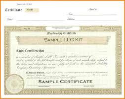 Llc Membership Certificate Template Musicsavesmysoul Com