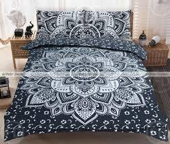 black silver boho bedding indian