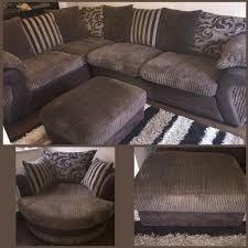 dfs large corner sofa swivel chair and storage stool