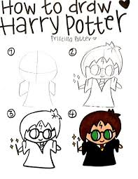 Pin by Priscilla Potter on Harry Potter Doodles. | Harry potter cartoon,  Harry potter drawings, Harry potter drawings easy