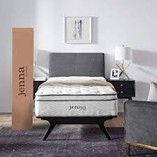 "Modway AMZ-5768-WHI Jenna 10"" Twin Innerspring Mattress - Top Quality Quilted Pillow Top - Individually Encased Pocket Coils - 10-Year Warranty"