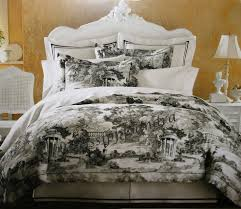 black toile bedding and white home decor for comforter sets idea 2