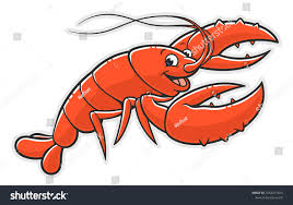 Cartoon Funny Lobster On White ...