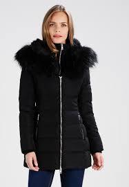 guess yoko winter coat women clothing coats jet black