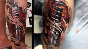 топ 10 тату биомеханика поршень безумные татуировки